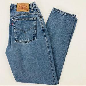 Levi's 550. High waisted. Light wash jeans